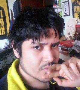 L'autore Alonso Rojas in un momento meditativo