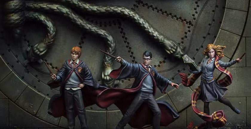 Harry Potter Miniatures Adventure Game - Harry Potter, Ron Weasley e Hermione Granger