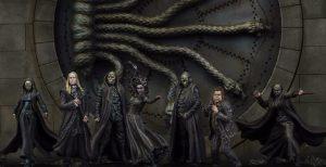Bellatrix Black, Peter Minus, Lucius Malfoy e i Mangiamorte