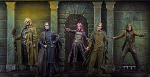 Sirius Black, Remus Lupin, Ninfadora Tonks, Severus Piton e Alastor Moody