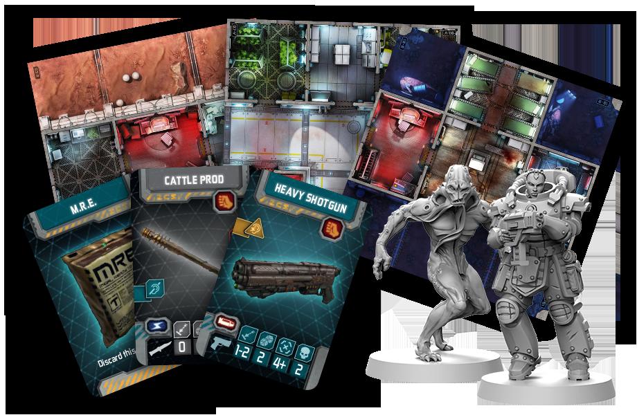 Zombicide Invader - Armi, Tiles e personaggi