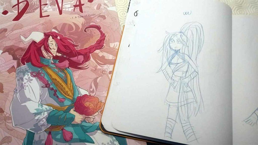 La principessa Wu disegnata da Gaia dopo aver letto il fumetto